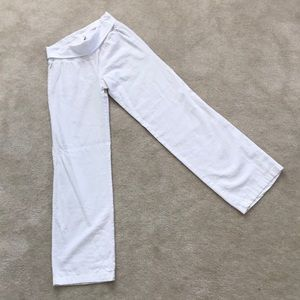 NEW Old Navy XS White Linen Foldover Wideleg Pants